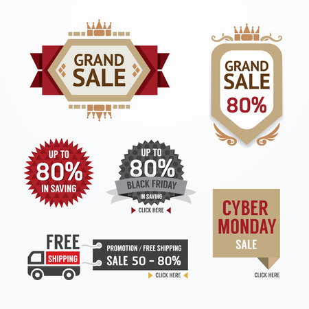 Sale tags banners vector set. Design concept for mobile shopping online payments,digital marketing.graphic or website layout and mobile applications. Vector