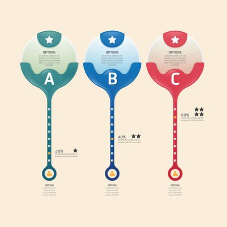 Infographic banners set number modern design. Vector