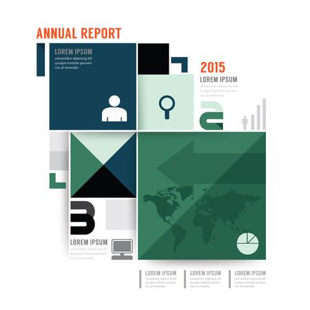 magazine design: annual report brochure, flyer, magazine cover design template.