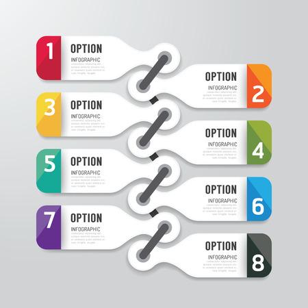 numeros: Infograf�a modernos opciones de banners dise�o. Ilustraci�n del vector. se puede utilizar para la disposici�n de flujo de trabajo, diagrama, opciones de n�meros, gr�fico o sitio web dise�o vectorial