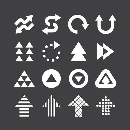 Arrow icons set vector design.