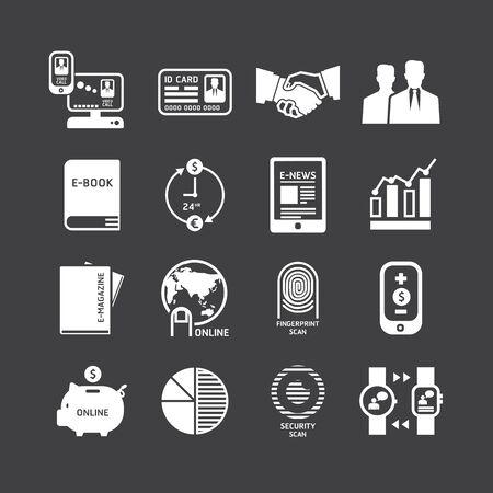Iconos de establecen diseño de la tecnología de visita del vector. Foto de archivo - 35828928