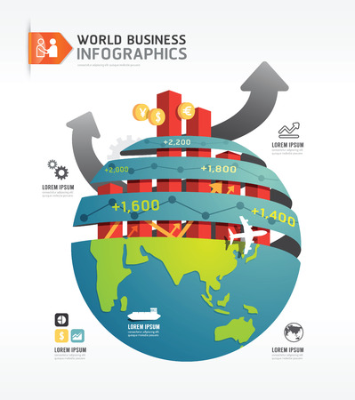 Business world infographic concept design template.vector Vector