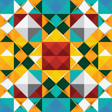 Modern Geometric background - seamless  can be used for graphic or website layout vector Vector