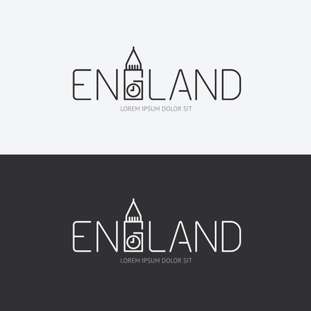 abstract london: Vector alphabet england design concept with flat sign icon can be used for travel publishing or web design layout.