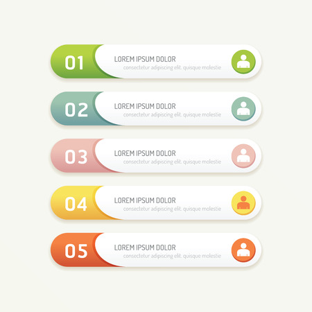 numbers: vector progress banners with colorful tags. can be used for infographics  number banner  number options concept graphic or web design layout.