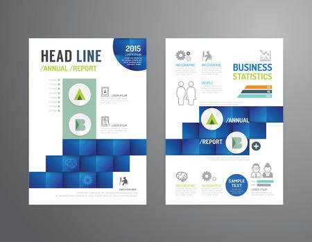 パンフレット、チラシ、雑誌の表紙ブックレット ポスター デザイン template.layout ビジネス業界プロパティ年次レポート A4 のサイズをベクトルします