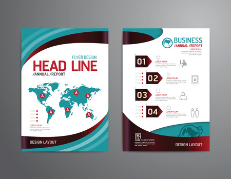magazine template: Vector brochure, flyer, magazine cover booklet poster design template.layout business technology annual report A4 size.
