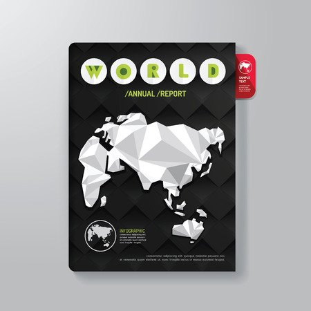 ebook cover: Cover Book Digital Design Minimal Style Template  can be used for E-Book Cover E-Magazine Cover vector illustration