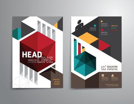 Vector folleto, folleto, revista folleto cubierta diseño del cartel template.layout anual de educación tamaño A4 informe.