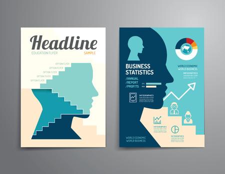 벡터 브로셔, 전단지, 잡지 커버 책자 포스터 디자인 template.layout 교육 연차 보고서 A4 크기입니다. 스톡 콘텐츠 - 36934467