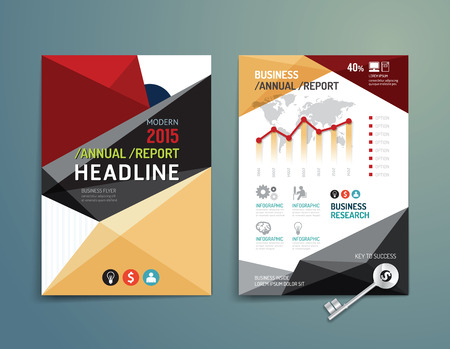 Vector brochure, flyer, magazine cover booklet poster design template.layout education annual report A4 size. 向量圖像
