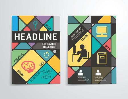Vector brochure, flyer, magazine cover boekje poster ontwerp template.layout onderwijs jaarverslag van A4-formaat.