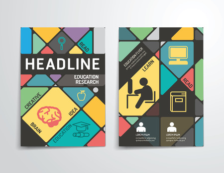cubiertas: Vector folleto, folleto, revista folleto cubierta dise�o del cartel template.layout anual de educaci�n tama�o A4 informe.
