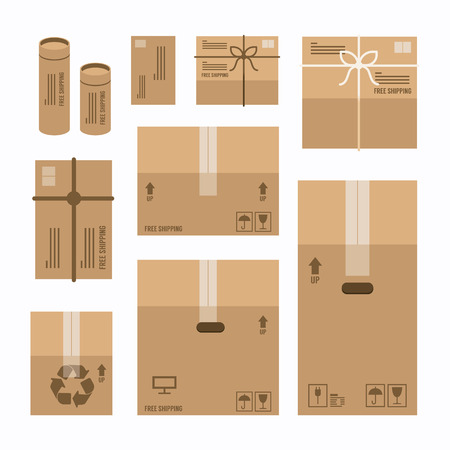 paper boxes set product package mockup design,vector Vector