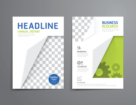 report cover design: Vector brochure, flyer, magazine cover booklet poster design template.layout education annual report A4 size. Illustration