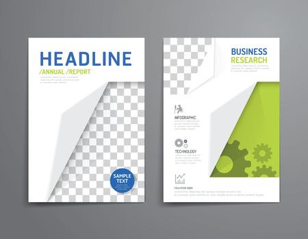 Vector Broschüre, Flyer, Magazin-Cover Booklet Plakatgestaltung template.layout Bildung Jahresbericht A4-Format. Illustration