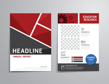 Vector brochure, flyer, magazine cover booklet poster design template.layout education annual report A4 size. Vettoriali