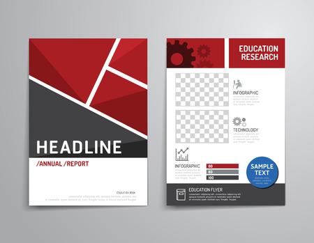 Vector folleto, folleto, revista folleto cubierta diseño del cartel template.layout anual de educación tamaño A4 informe. Foto de archivo - 37076501