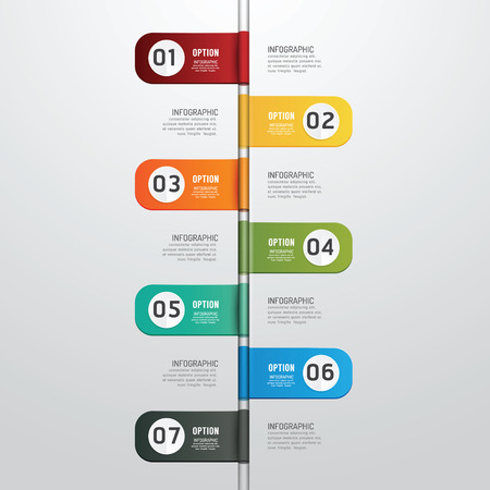 horizontal lines: Modern design time line style infographic template  can be used for infographics  numbered banners  horizontal cutout lines  graphic or website layout vector