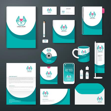 벡터 브로셔, 전단지, 잡지 표지 책자 포스터 디자인 템플릿  레이아웃 비즈니스 문구 연간 보고서 A4 사이즈  건강 기업의 정체성 서식 파일의 집합입