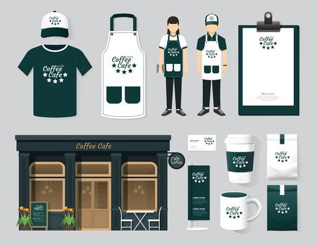 speisekarte: Vector restaurant cafe set Front-Design, Flyer, Men�, Paket, T-Shirt, M�tze, einheitliche und Display-Design  Layout Satz von Corporate-Identity-Mock-up-Vorlage. Lizenzfreie Bilder