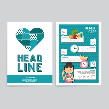 print media: Vector brochure, flyer, magazine cover booklet poster design template.layout annual report set of corporate identity mock-up print media A4 size.