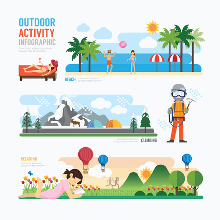 parks and outdoor activityTemplate Design Infographic. Concept Vector Illustration