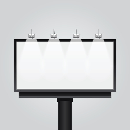Vector empty billboard signsignboard modern banner isolated. design for advertising