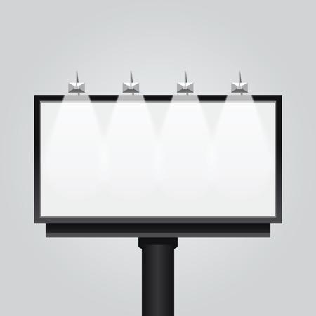 Wektor pusty billboard signsignboard nowoczesne transparent samodzielnie. Konstrukcja na reklamę