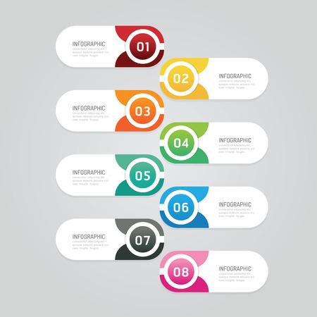 Infographics ontwerpsjabloon sjabloon banner. vectorillustratie kan worden gebruikt voor de lay-out van zakelijke werkstromen, diagrammen, nummeropties, grafische of weblay-out