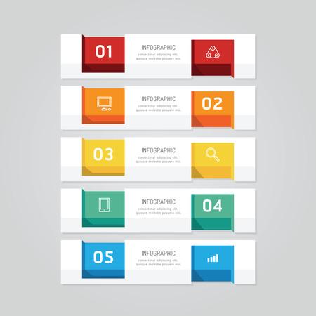 Moderne Infografiken Gestaltungsmöglichkeiten Banner. Vektor ...