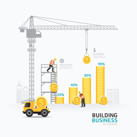 Infographic business money graph template design.