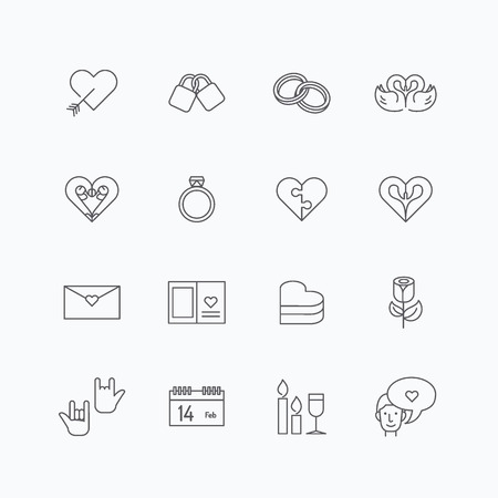diamond candle: vector linear web icons set - love collection of simple flat mono line love symbol design elements. Stroke vector graphics. concept pictogram pack web,application