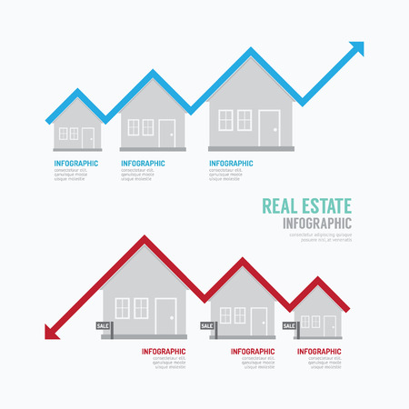 housing: Real Estate Graph Design Infographic. Concept Illustration