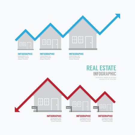 home owner: Real Estate Graph Design Infographic. Concept Illustration