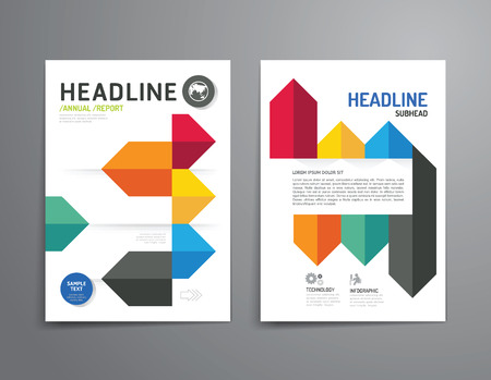 magazine design: Business brochure, magazine cover design template .layout education annual report A4 size. Illustration