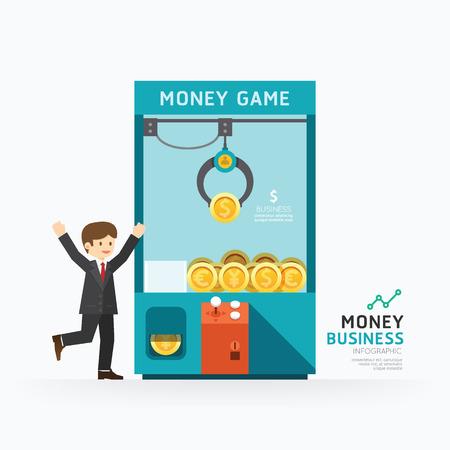 인포 그래픽 비즈니스 발톱 게임 템플릿 디자인. 어떻게 성공 개념 벡터 일러스트  그래픽 또는 웹 디자인 레이아웃.