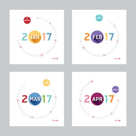2017 カレンダー カレンダーのベクター デザイン。