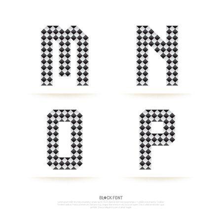 letter: Alphabet set , vector illustration. block style. Illustration