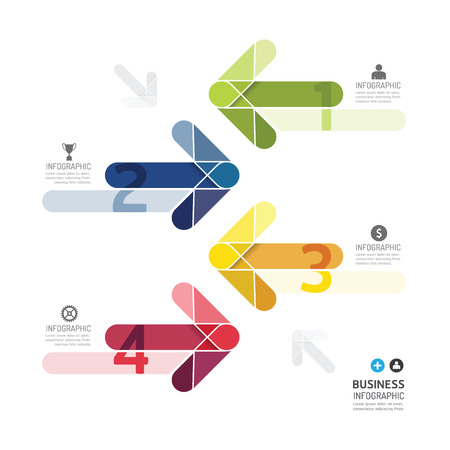 モダンなデザインの色矢印最小限スタイル インフォ グラフィック template.can インフォ グラフィックに使用 .graphic またはウェブサイトのレイアウト