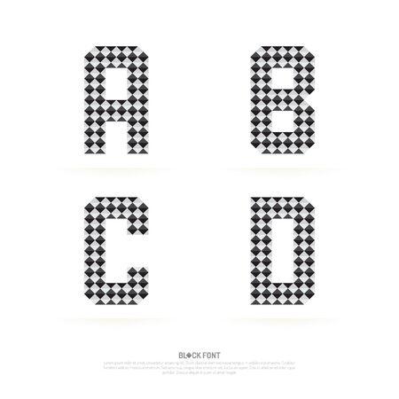 forme: ensemble Alphabet, illustration vectorielle. style de bloc.