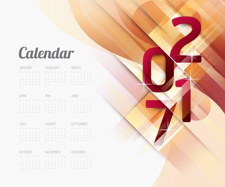 2017 カレンダー抽象的なベクター デザイン。  イラスト・ベクター素材