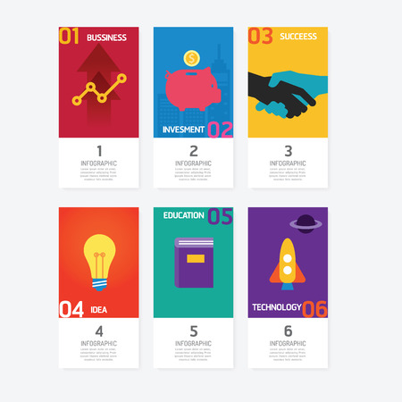 creative arts: Business data process chart. Abstract of colourful pictograph number card, diagram with icons. Vector illustration business infographics design template for presentation. Illustration