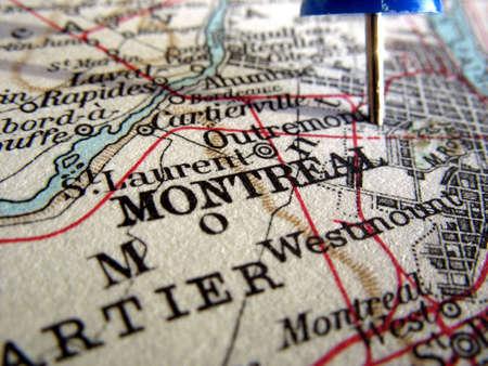 The way we looked at Montreal in 1949. Foto de archivo