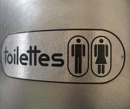 Sign at a public French toilet Stock Photo - 1141280