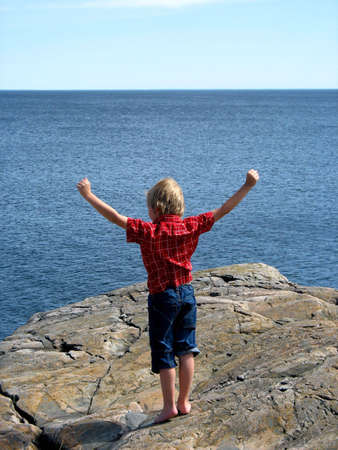 6-year old on top of the world photo