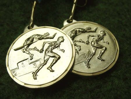 Athletics medals for a winner or champion Stock Photo - 1482731