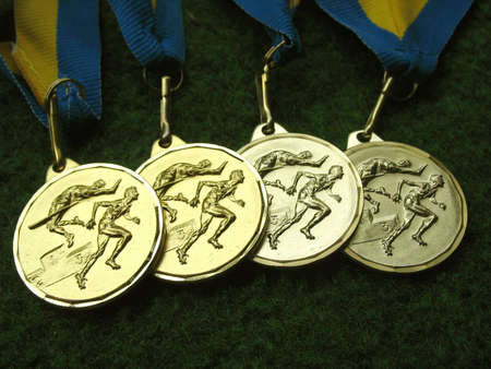 Athletics medals for a winner or champion