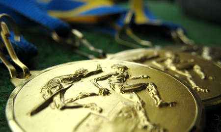 Athletics medals for a winner or champion photo